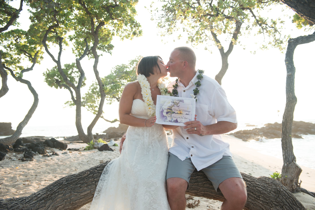 Simple Kona Beach Weddings Vow Renewal
